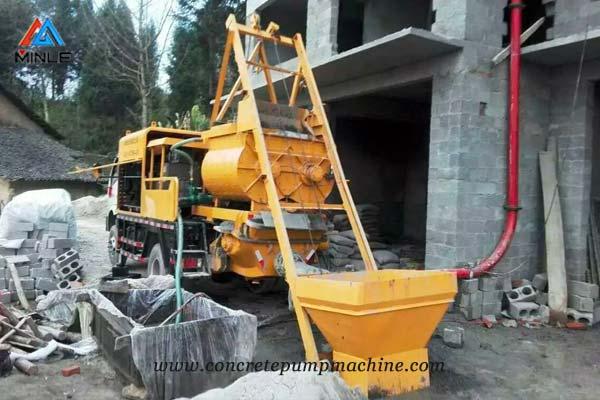 Concrete Mixer Pump Truck for house construction