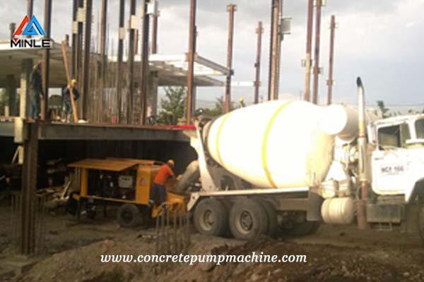 Concrete Pump Trailer for building construction