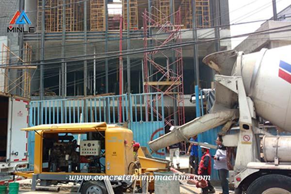 Concrete Pump Trailer for construction