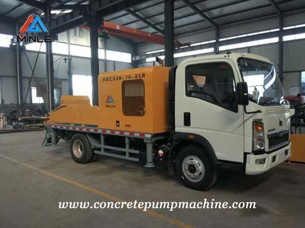 Concrete pump truck workshop