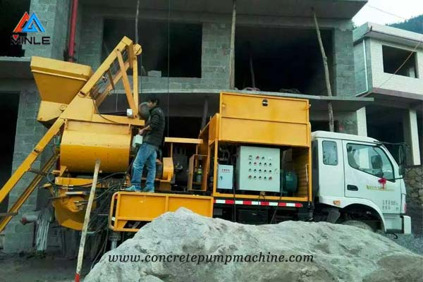 Truck Mounted Concrete Mixer Pump Price
