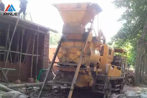 Truck Mounted Concrete Mixer Pump