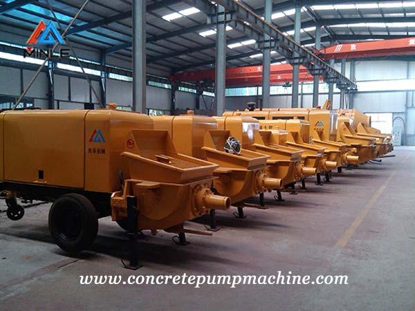 concrete pump machine workshop