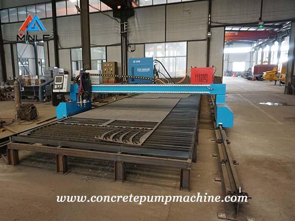 concrete pump steel plate plasm cutting machine