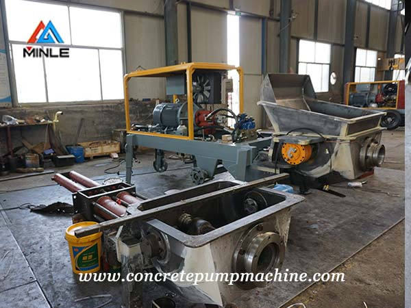 concrete pump truck assembly