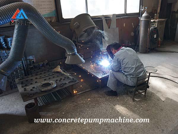 concrete pump welding