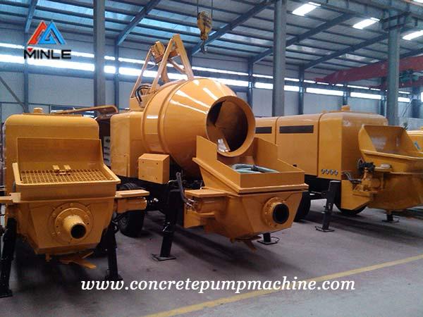 diesel concrete pump trailer workshop
