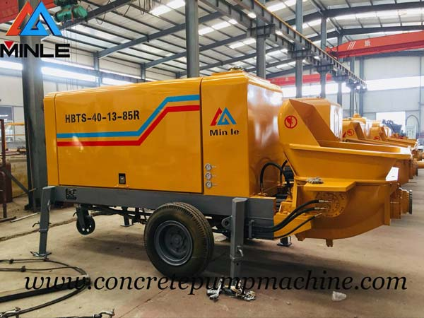 Concrete Trailer Pump was Exported to Philippines
