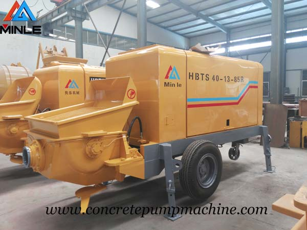Diesel Concrete Trailer Pump was Exported to Philippines