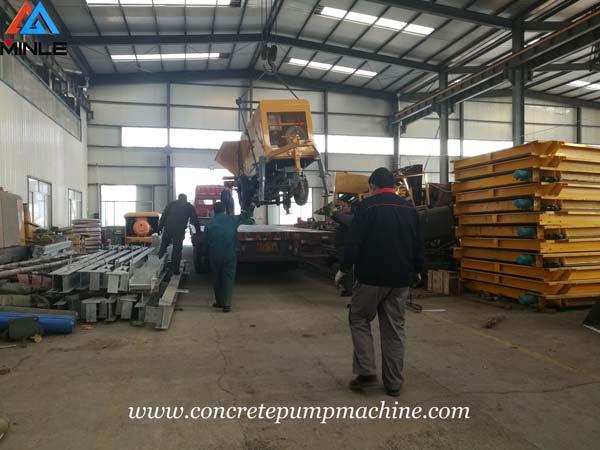 Four Sets Concrete Pump Machine were Exported to Vietnam