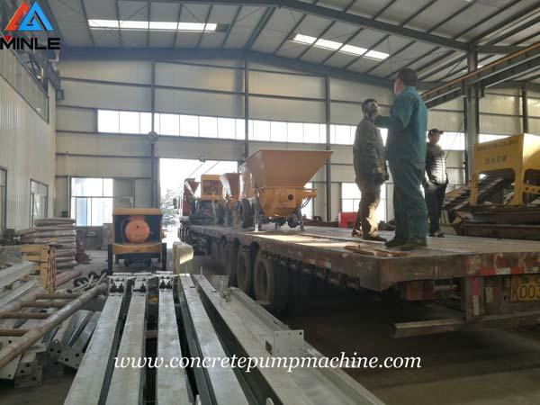 Four Sets Mining Concrete Pump Trailer were Exported to Vietnam