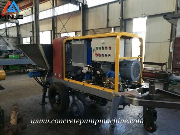 Four Sets Mining Concrete Pump were Exported to Vietnam