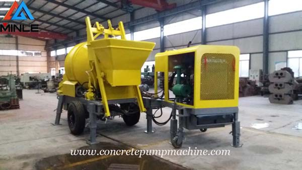 Trailer Concrete Mixer Pump Machine was Exported To Philippines