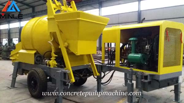 Trailer Concrete Mixer Pump was Exported To Philippines