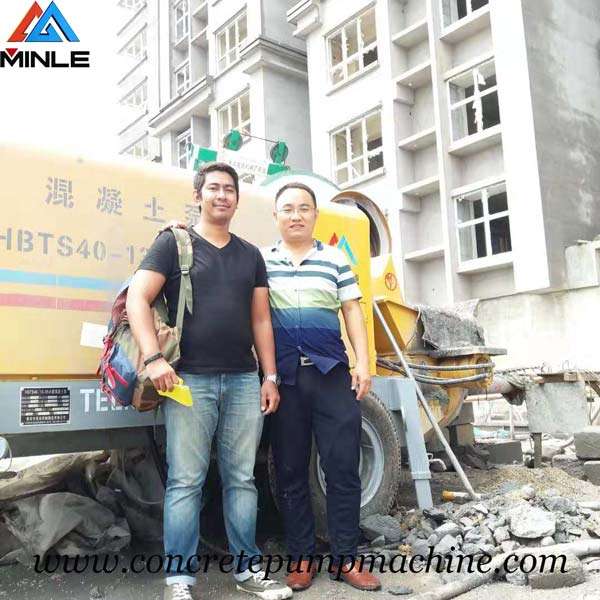 Trailer concrete pump was exported To Philippines