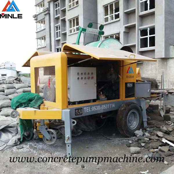 Trailer pumpcrete machine was exported To Philippines