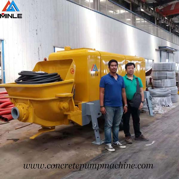 Trailer pumpcrete was exported To Philippines
