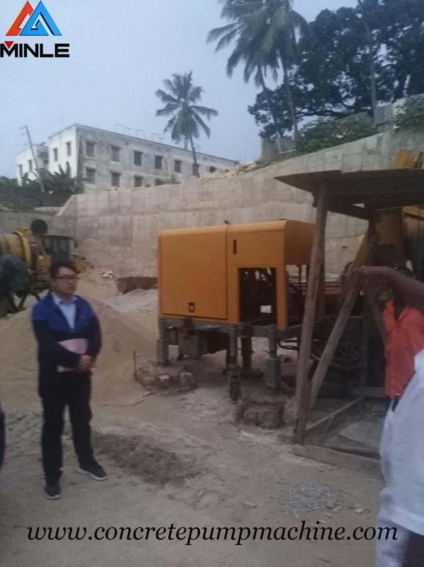 After Sale Service of Concrete Mixer Pump machine for Kenya Customer