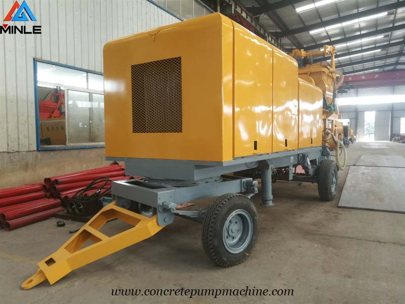 concrete mixer pump was exported to Ghana