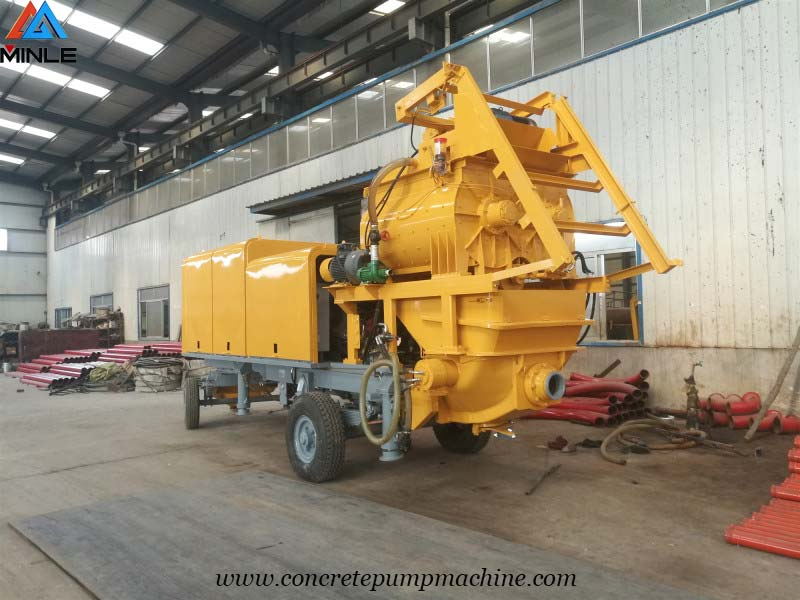 concrete mixer with pump was exported to Ghana
