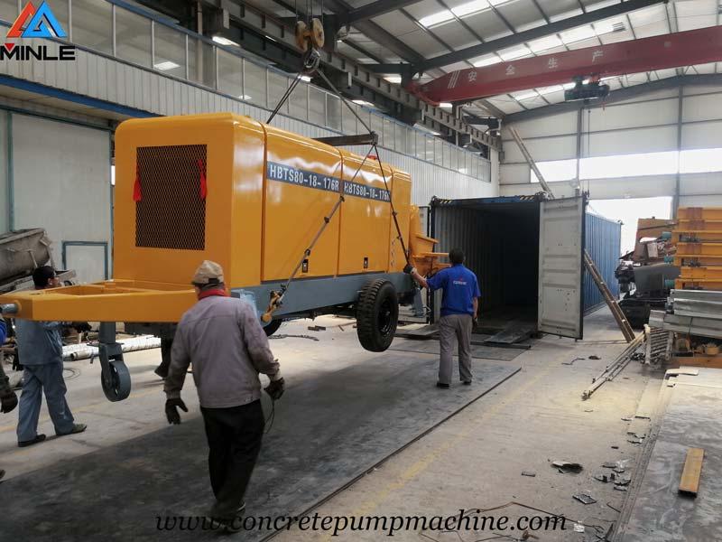 Concrete Pump Trailer for Building in Indonesia