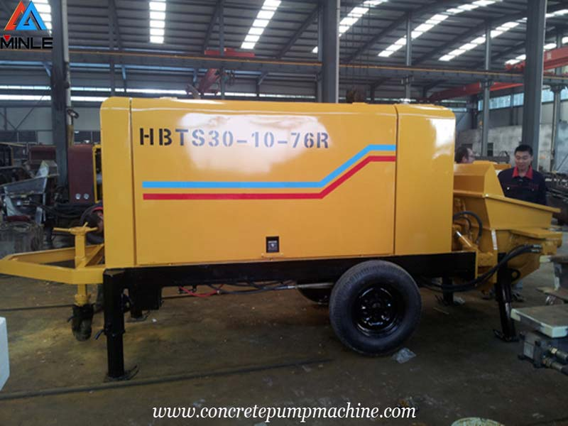 Trailer Mounted Concrete Pump Was Exported to THAILAND