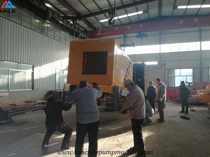 40 Cubic Meter per Hour Concrete Pump Sent to Colombia for Building Construction
