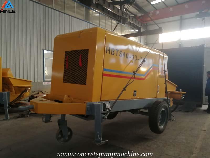 40 Cubic Meter per Hour Diesel Concrete Pump Sent to Colombia for Building Construction