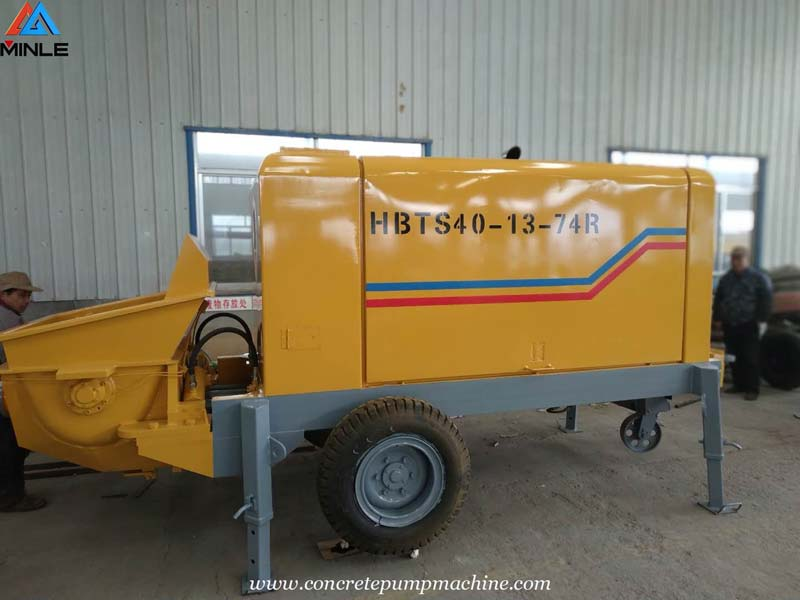 40 Cubic Meter per Hour Small Diesel Concrete Pump Sent to Colombia for Building Construction