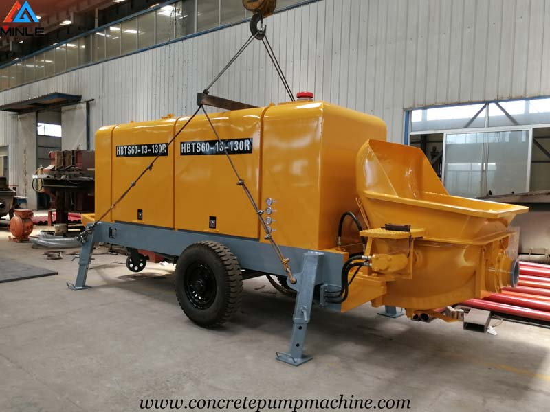 60 Cubic Meters Per Hour Portable Concrete Pump for Sale in Philippines
