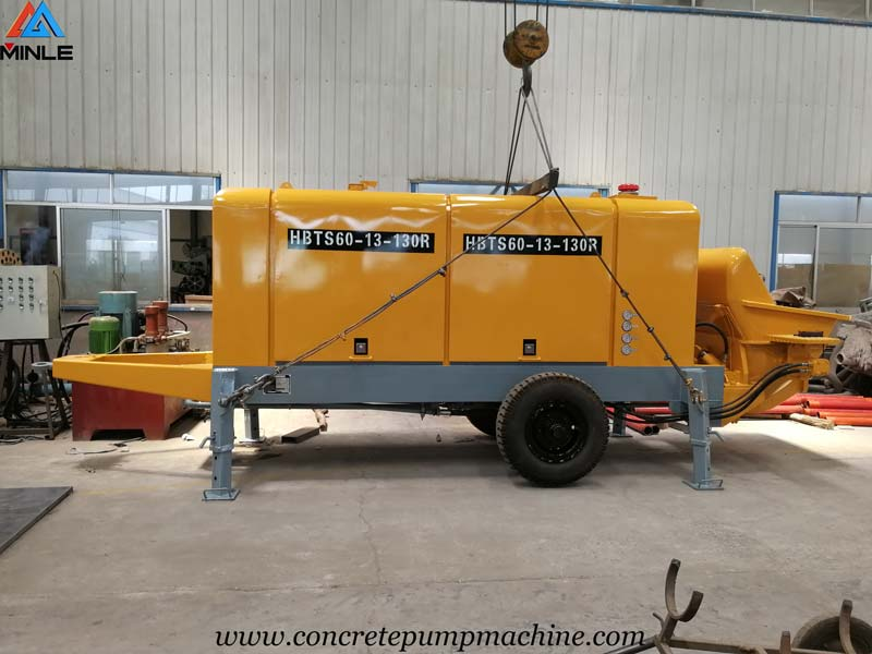 60 Cubic Meters Per Hour Portable Trailer Concrete Pump for Sale in Philippines