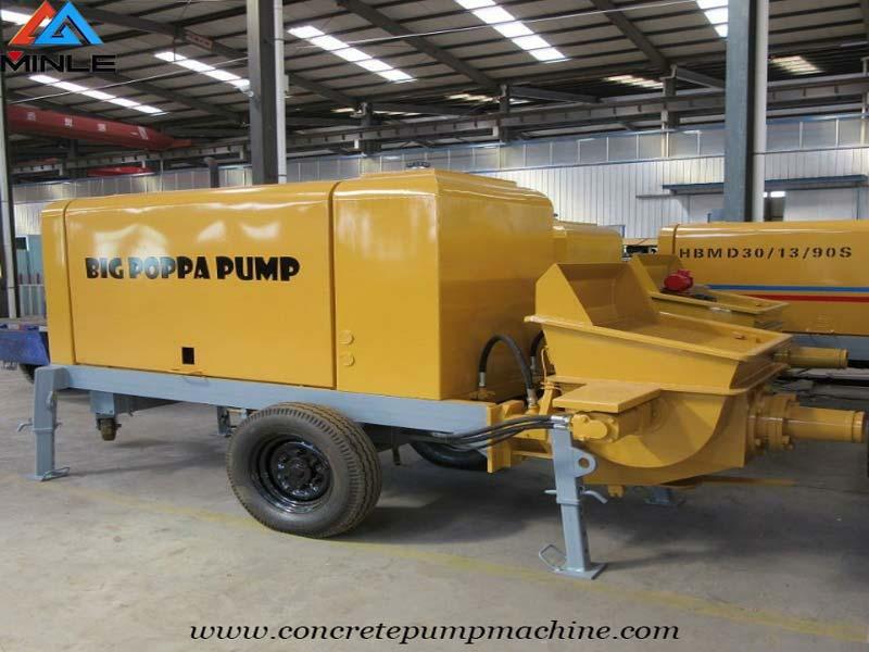 Trailer Concrete Mobile Pump to Philippines