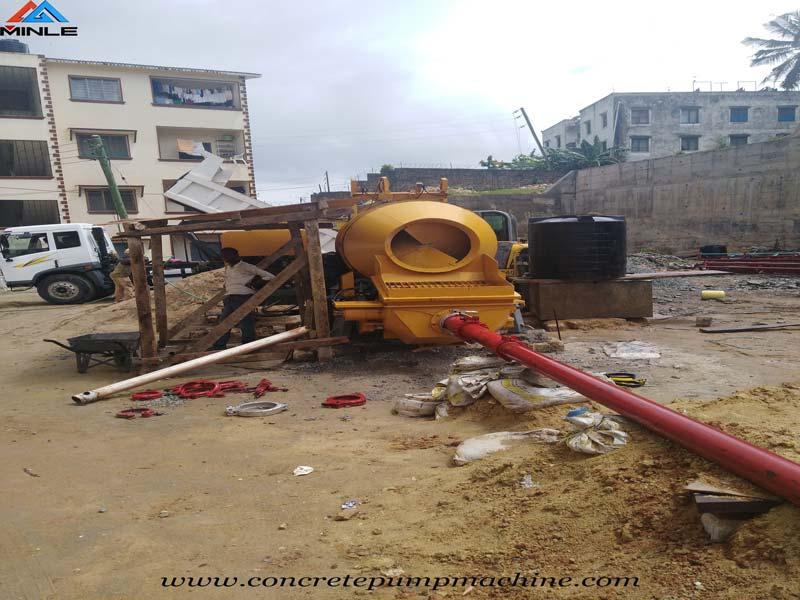 Concrete Line Pump with Mixer - Concrete Pump, Concrete
